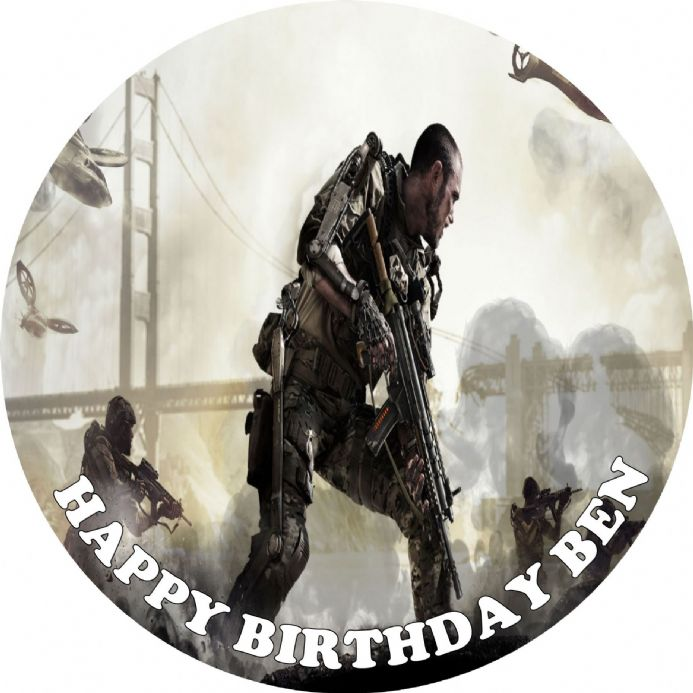 Call of Duty Edible Cake Topper